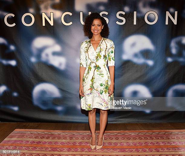 Actress Gugu MbathaRaw attends 'Concussion' cast photo call at Crosby Street Hotel on December 14 2015 in New York City