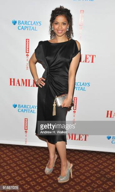 Actress Gugu MbathaRaw attends the after party for the Broadway opening night of Hamlet at Gotham Hall on October 6 2009 in New York City