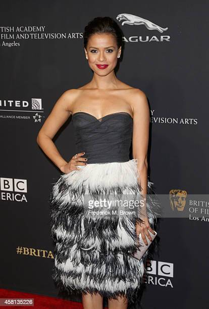 Actress Gugu MbathaRaw attends the BAFTA Los Angeles Jaguar Britannia Awards presented by BBC America and United Airlines at The Beverly Hilton Hotel...