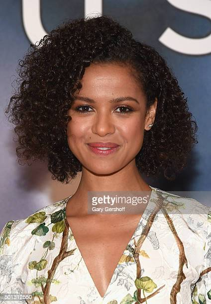 """Actress Gugu Mbatha-Raw attends the """"Concussion"""" cast photo call at Crosby Street Hotel on December 14, 2015 in New York City."""