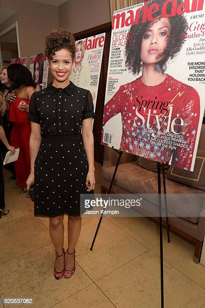 Actress Gugu MbathaRaw attends the Fresh Faces party hosted by Marie Claire celebrating the May issue cover stars on April 11 2016 in Los Angeles...