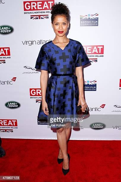 Actress Gugu MbathaRaw attends the GREAT British Film Reception Honoring The British Nominees Of The 86th Annual Academy Awards at the British Consul...