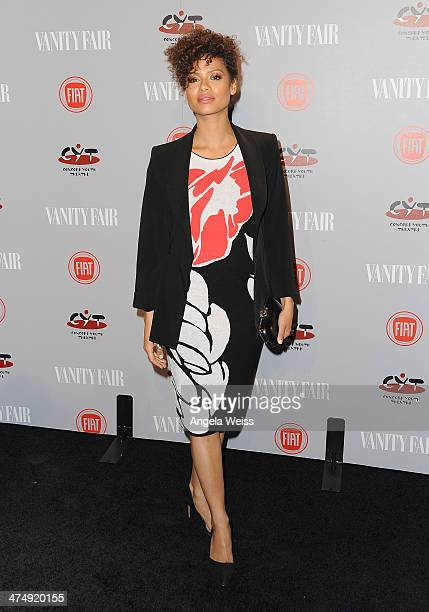 Actress Gugu MbathaRaw attends the Vanity Fair Campaign Hollywood 'Young Hollywood' party sponsored by Fiat at No Vacancy on February 25 2014 in Los...