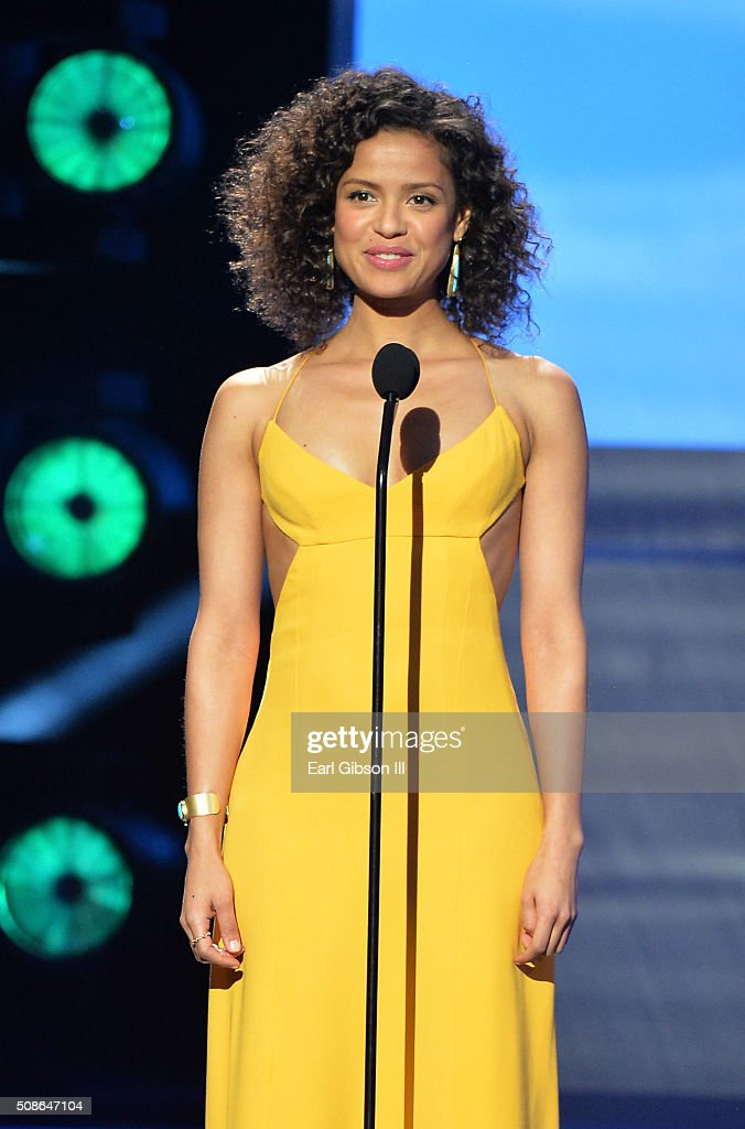 Actress Gugu Mbatha-Raw onstage during the 47th NAACP Image Awards presented by TV One at Pasadena Civic Auditorium on February 5, 2016 in Pasadena, California.