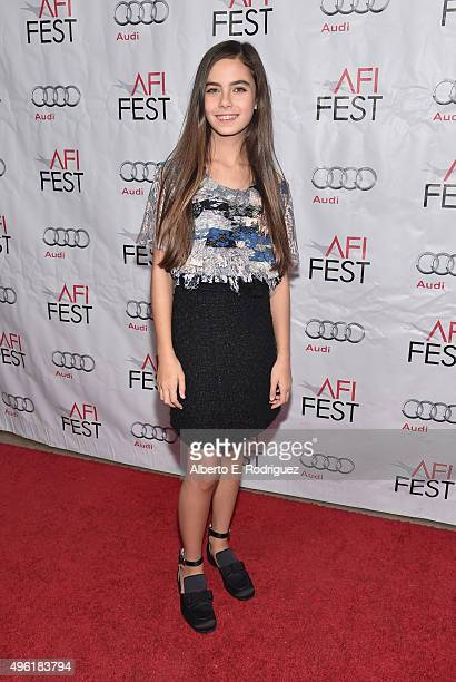 Actress Gunes Nezihe Sensoy attends the photo call for Cohen Media Group's 'Mustang' during AFI FEST 2015 Presented By Audi at TCL Chinese 6 Theatres...