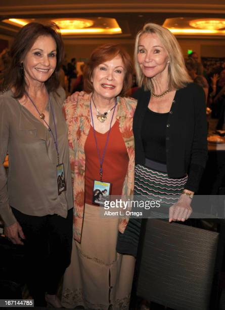 Actress Gunilla Hutton actress Linda Henning and actress Lori Saunders of Petticoat Junction attend The Hollywood Show held at Westin LAX Hotel on...