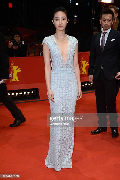Actress Gwei Lun Mei attends the 'Black Coal Thin Ice' premiere during 64th Berlinale International Film Festival at Berlinale Palast on February 12...