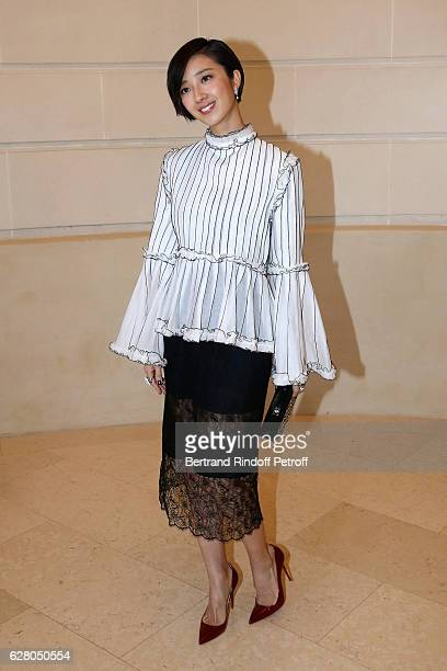 Actress Gwei Lun Mei attends the 'Chanel Collection des Metiers d'Art 2016/17 Paris Cosmopolite' Photocall at Hotel Ritz on December 6 2016 in Paris...