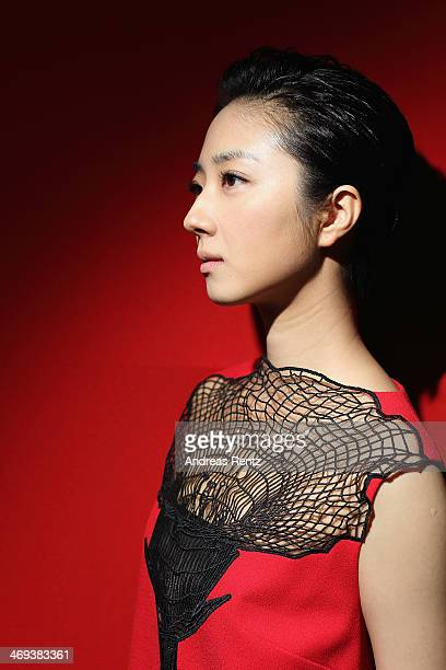 Actress Gwei Lun Mei by Photographer Andreas Rentz for the Contour Collection poses during the 64th Berlinale International Film Festival at...