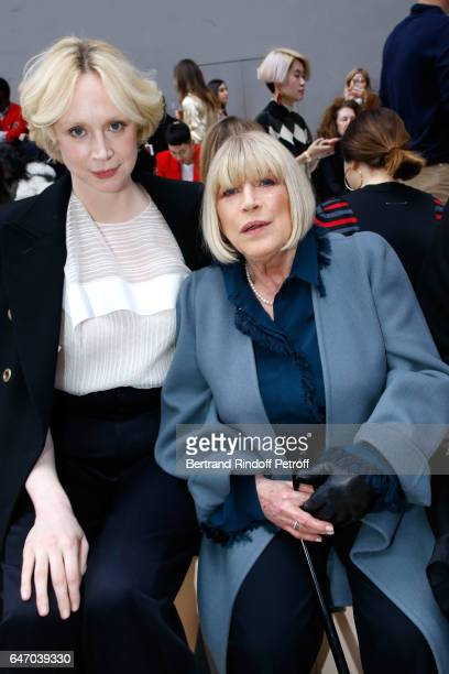 Actress Gwendoline Christie and singer Marianne Faithfull attend the Chloe show as part of the Paris Fashion Week Womenswear Fall/Winter 2017/2018 on...