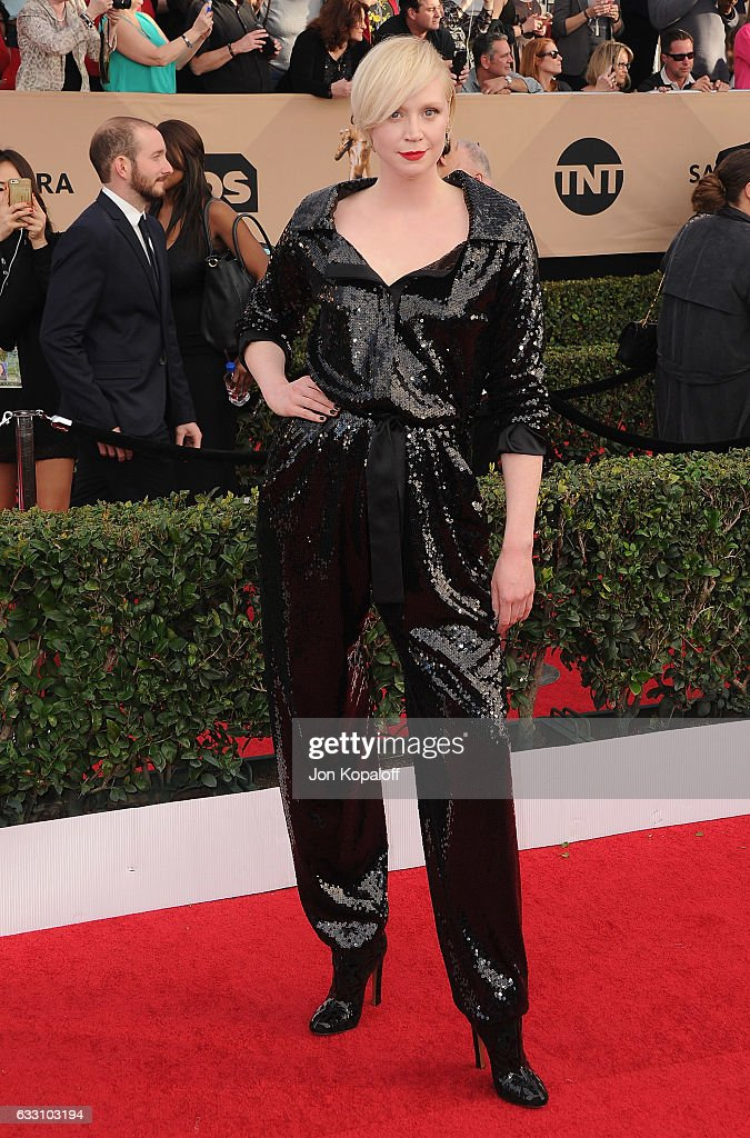 Actress Gwendoline Christie arrives at the 23rd Annual Screen Actors Guild Awards at The Shrine Expo Hall on January 29, 2017 in Los Angeles, California.