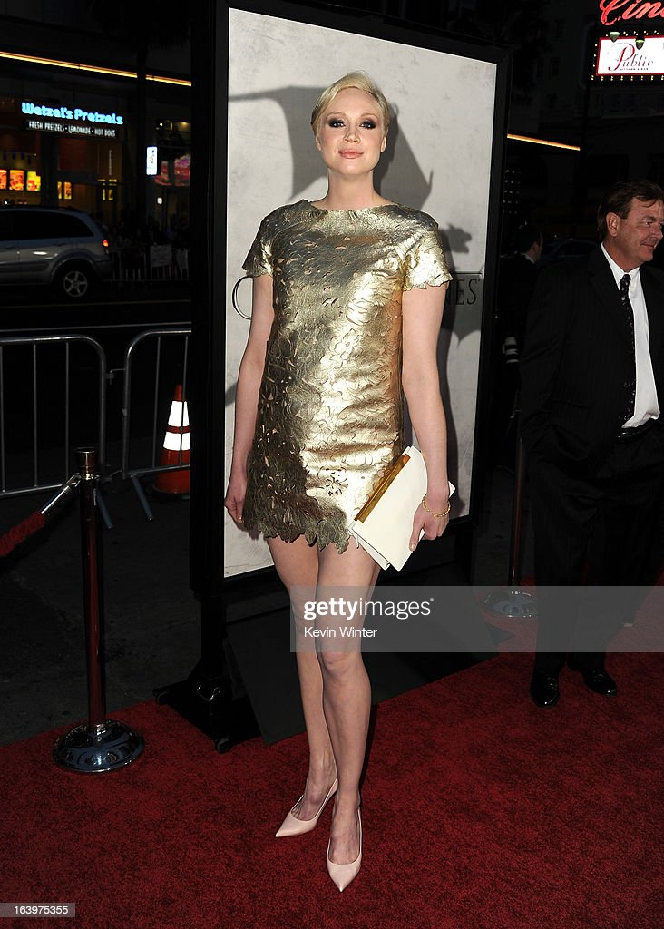 Actress Gwendoline Christie arrives at the premiere of HBO's 'Game Of Thrones' Season 3 at TCL Chinese Theatre on March 18, 2013 in Hollywood, California.