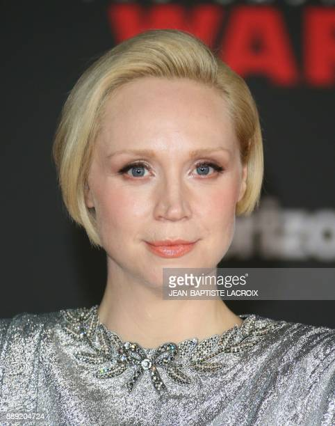 Actress Gwendoline Christie arrives for the premiere of Disney Pictures and Lucasfilm's 'Star Wars The Last Jedi' at The Shrine Auditorium in Los...