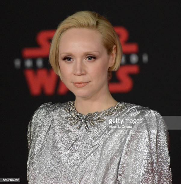 Actress Gwendoline Christie arrives for the Premiere Of Disney Pictures And Lucasfilm's 'Star Wars The Last Jedi' held at The Shrine Auditorium on...