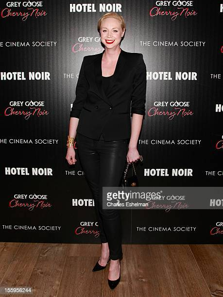 Actress Gwendoline Christie attends Gato Negro Films The Cinema Society screening of 'Hotel Noir' at the Crosby Street Hotel on November 9 2012 in...