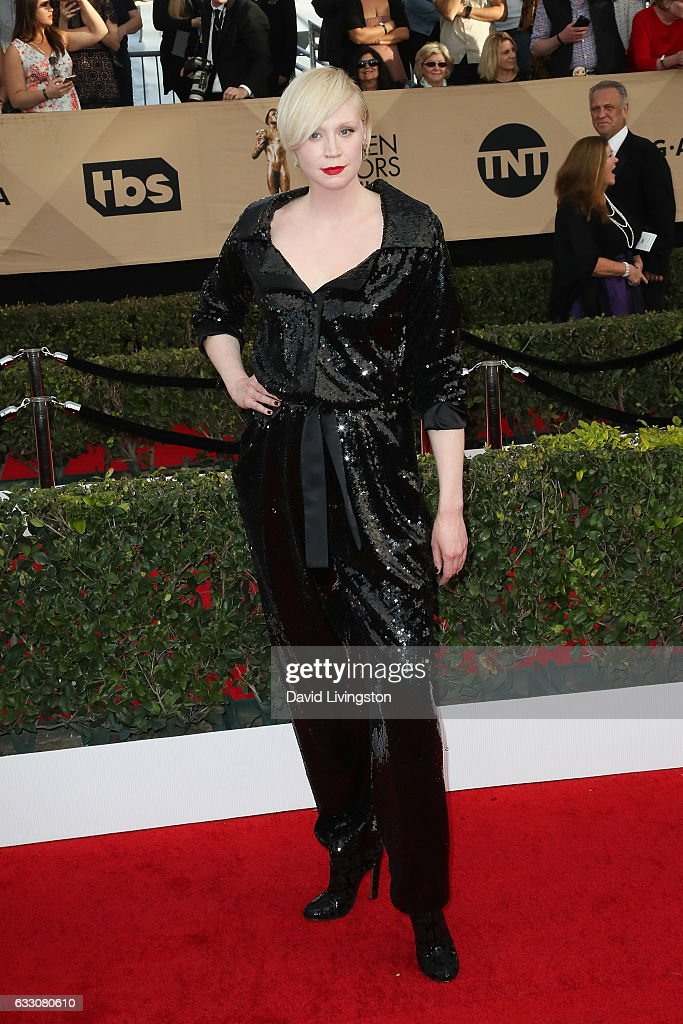 Actress Gwendoline Christie attends the 23rd Annual Screen Actors Guild Awards at The Shrine Expo Hall on January 29, 2017 in Los Angeles, California.