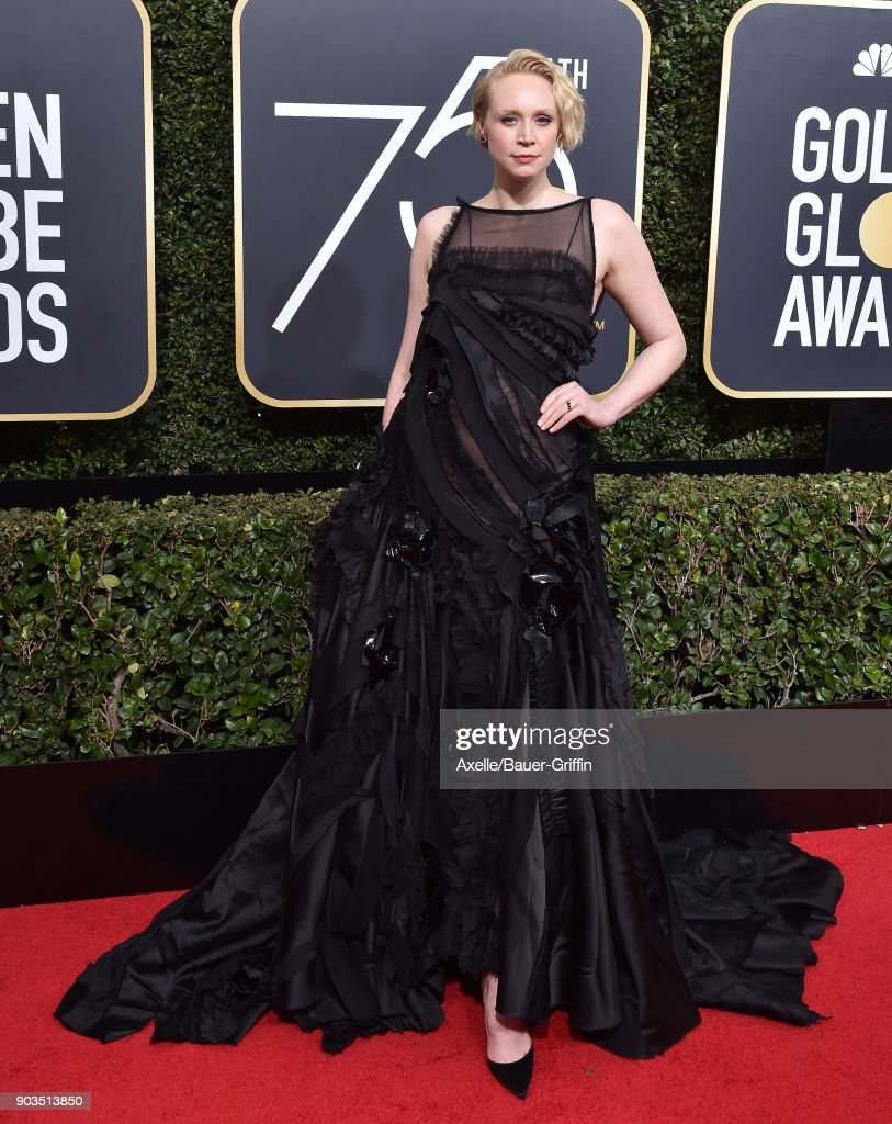 Actress Gwendoline Christie attends the 75th Annual Golden Globe Awards at The Beverly Hilton Hotel on January 7, 2018 in Beverly Hills, California.