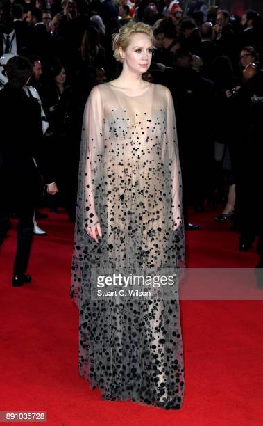 Actress Gwendoline Christie attends the European Premiere of 'Star Wars The Last Jedi' at Royal Albert Hall on December 12 2017 in London England