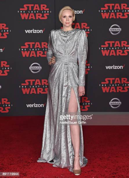 Actress Gwendoline Christie attends the Los Angeles premiere of 'Star Wars The Last Jedi' at The Shrine Auditorium on December 9 2017 in Los Angeles...
