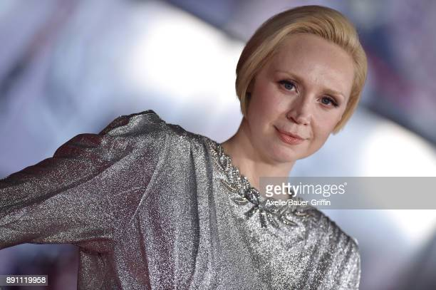 Actress Gwendoline Christie attends the Los Angeles premiere of 'Star Wars: The Last Jedi' at The Shrine Auditorium on December 9, 2017 in Los...