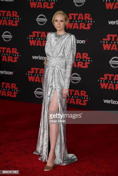 Actress Gwendoline Christie attends the premiere of Disney Pictures and Lucasfilm's 'Star Wars The Last Jedi' at The Shrine Auditorium on December 9...