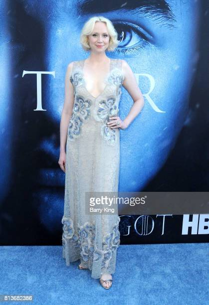 Actress Gwendoline Christie attends the Premiere of HBO's 'Game Of Thrones' Season 7 at Walt Disney Concert Hall on July 12 2017 in Los Angeles...