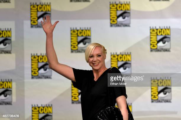 Actress Gwendoline Christie attends the TV Guide Magazine Fan Favorites panel during ComicCon International 2014 at the San Diego Convention Center...