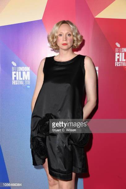 """Actress Gwendoline Christie attends the UK Premiere of """"In Fabric"""" at the 62nd BFI London Film Festival on October 18, 2018 in London, England."""
