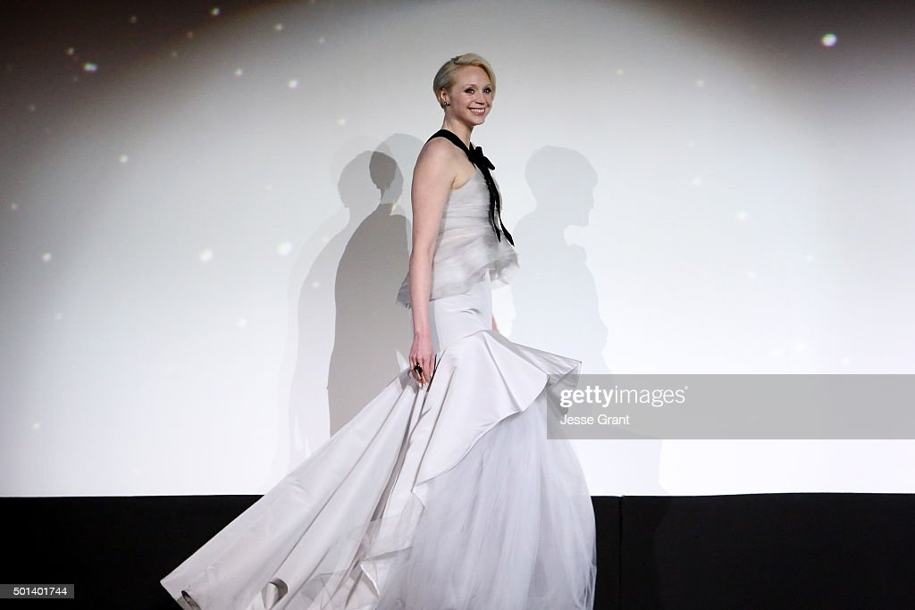 """Actress Gwendoline Christie attends the World Premiere of """"Star Wars: The Force Awakens"""" at the Dolby, El Capitan, and TCL Theatres on December 14, 2015 in Hollywood, California."""