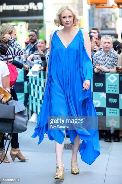 Actress Gwendoline Christie leaves the AOL Build taping at the AOL Studios on September 07 2017 in New York City