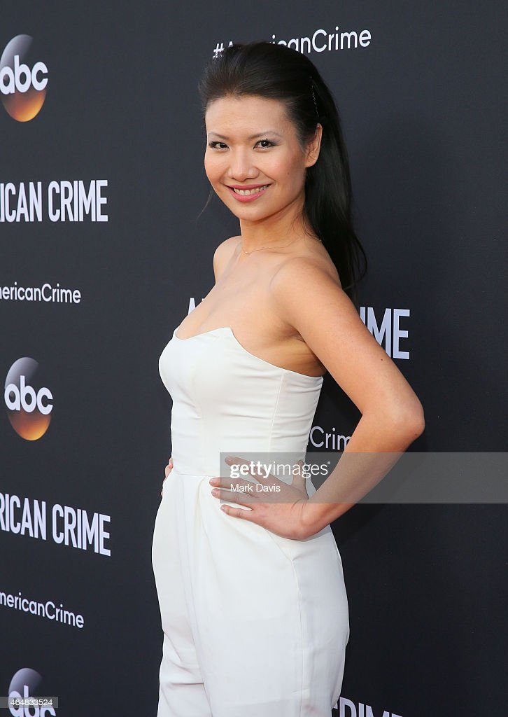Actress Gwendoline Yeo attends the premiere of ABC's 'American Crime' held at the Ace Hotel on February 28, 2015 in Los Angeles, California.