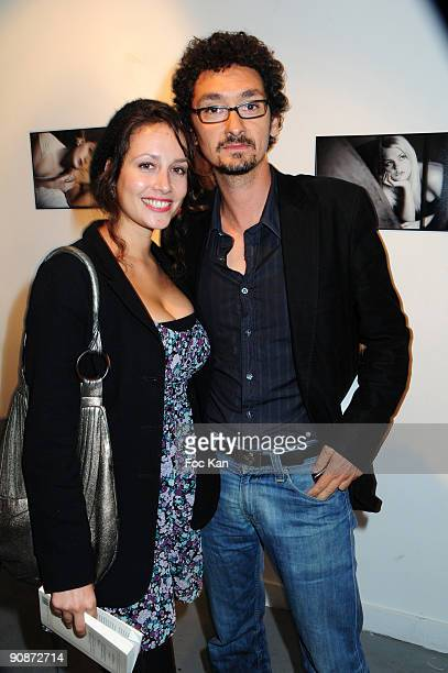 """Actress Gwendolyn Gourvenec and writer David Foenkinos attend the Bordel Magazine Beigbeder """"Au bord d'elles"""" Reading Aloud Party at the Galerie..."""