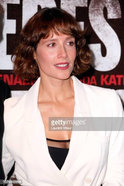 "Actress Gwendolyn Gourvenec attends ""Freres Ennemis"" Paris Premiere at UGC Les Halles on September 24, 2018 in Paris, France."