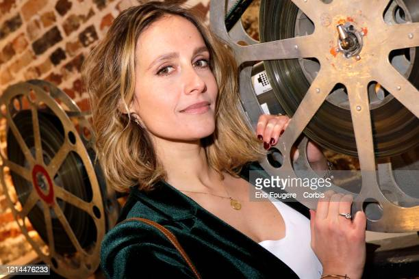 Actress Gwendolyn Gourvenec poses during a portrait session in Paris, France on .