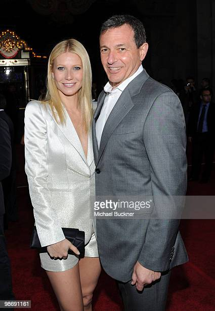 Actress Gwenyth Paltrow and President and CEO of The Walt Disney Company Robert Iger arrive at the world wide premiere of 'Iron Man 2' Premiere held...