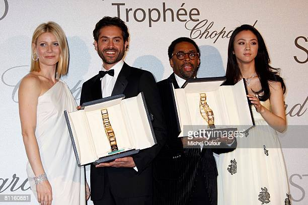 Actress Gwyneth Paltrow actor Omar Metwally director Spike Lee and actress Tang Wei attend the Trophee Chopard ceremony which awards the best young...