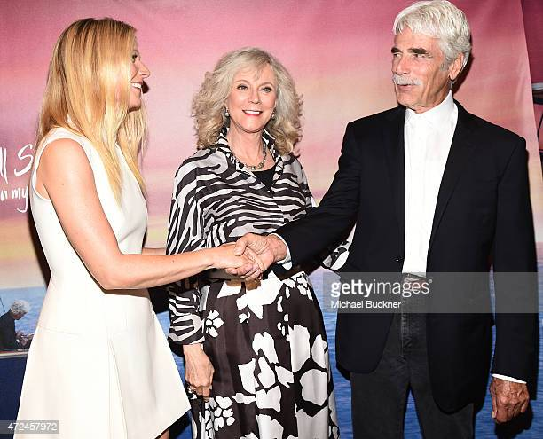 Actress Gwyneth Paltrow actress Blythe Danner and actor Sam Elliott arrive at the screening of 'I'll See You In My Dreams' at The London Screening...