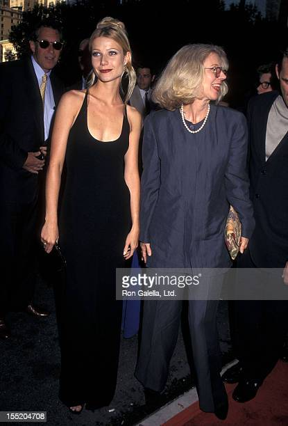 Actress Gwyneth Paltrow and actress Blythe Danner attend the Emma New York City Premiere on July 22 1996 at the Paris Theatre in New York City