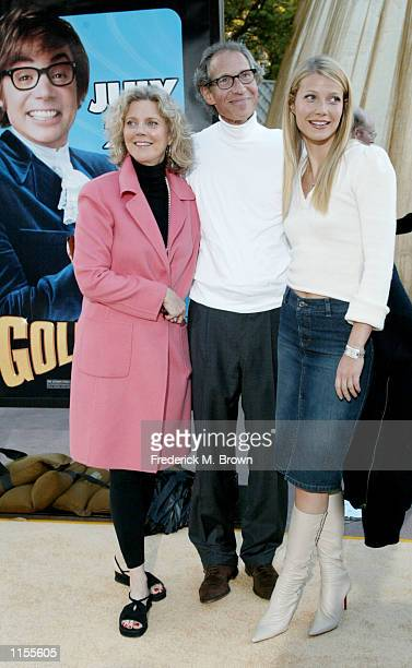 Actress Gwyneth Paltrow and her family attend the film premiere of Austin Powers in Goldmember on July 22 in Los Angeles California The film opens...