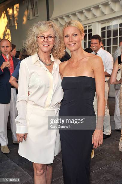 Actress Gwyneth Paltrow and her mother actress Blythe Danner attend Baby Buggy Summer Dinner on July 30 2011 in East Hampton New York