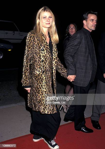 Actress Gwyneth Paltrow and her publicist Stephen Huvane attend the From Dusk Till Dawn Hollywood Premiere on January 17 1996 at Pacific's Cinerama...