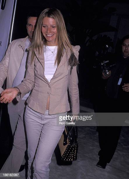 Actress Gwyneth Paltrow and publicist Stephen Huvane attend the Women's Wear Daily's All White Gala on March 20 2002 at Janet Charlton's House in...
