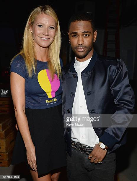 Actress Gwyneth Paltrow and recording artist Big Sean attend the Think It Up education initiative telecast for teachers and students hosted by...