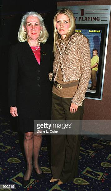 Actress Gwyneth Paltrow and St. Vincent Hospital Director Jane Cronnton attend a special screening benefit of her new movie 'shallow Hal'' November...