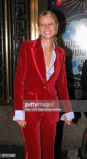 Actress Gwyneth Paltrow arrives at Radio City Music Hall for the MTV Video Music Awards