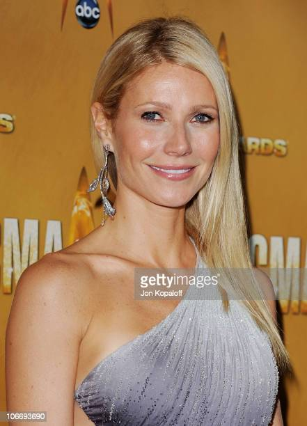 Actress Gwyneth Paltrow arrives at the 44th Annual CMA Awards at the Bridgestone Arena on November 10 2010 in Nashville Tennessee