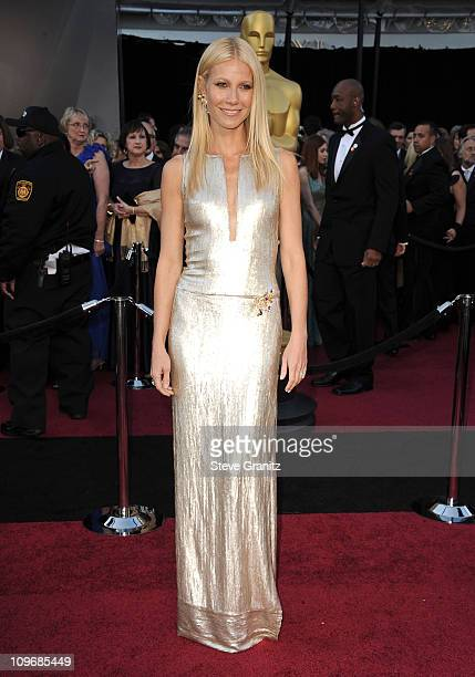 Actress Gwyneth Paltrow arrives at the 83rd Annual Academy Awards held at the Kodak Theatre on February 27 2011 in Hollywood California