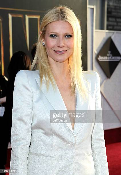 Actress Gwyneth Paltrow arrives at the Iron Man 2 World Premiere at El Capitan Theatre on April 26 2010 in Hollywood California