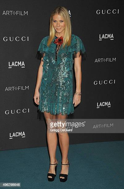 Actress Gwyneth Paltrow arrives at the LACMA 2015 ArtFilm Gala Honoring James Turrell And Alejandro G Inarritu Presented By Gucci at LACMA on...
