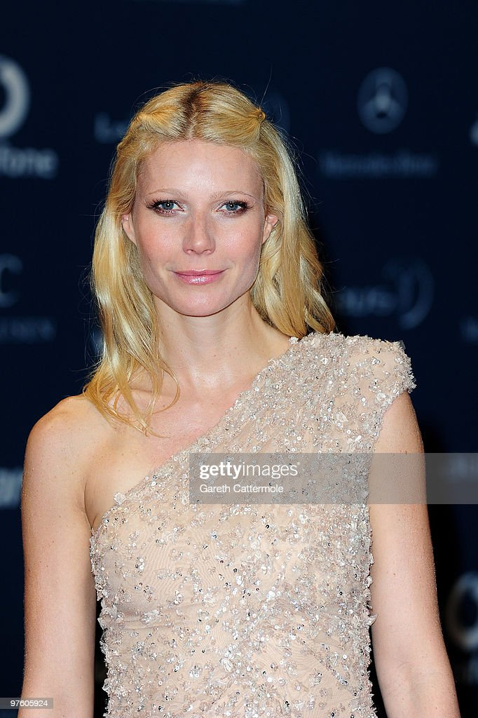 Actress Gwyneth Paltrow arrives at the Laureus World Sports Awards 2010 at Emirates Palace Hotel on March 10, 2010 in Abu Dhabi, United Arab Emirates.